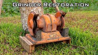 Old Bench Grinder Restoration [kotobuki grinder orange]
