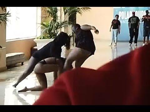 Girls in bikinis fighting at Mandalay Bay! Plus I won big $$$$ playing slots!