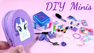 DIY My Little Pony Miniatures - Zippered Backpack, Sewing Kit, Beauty Products, & More