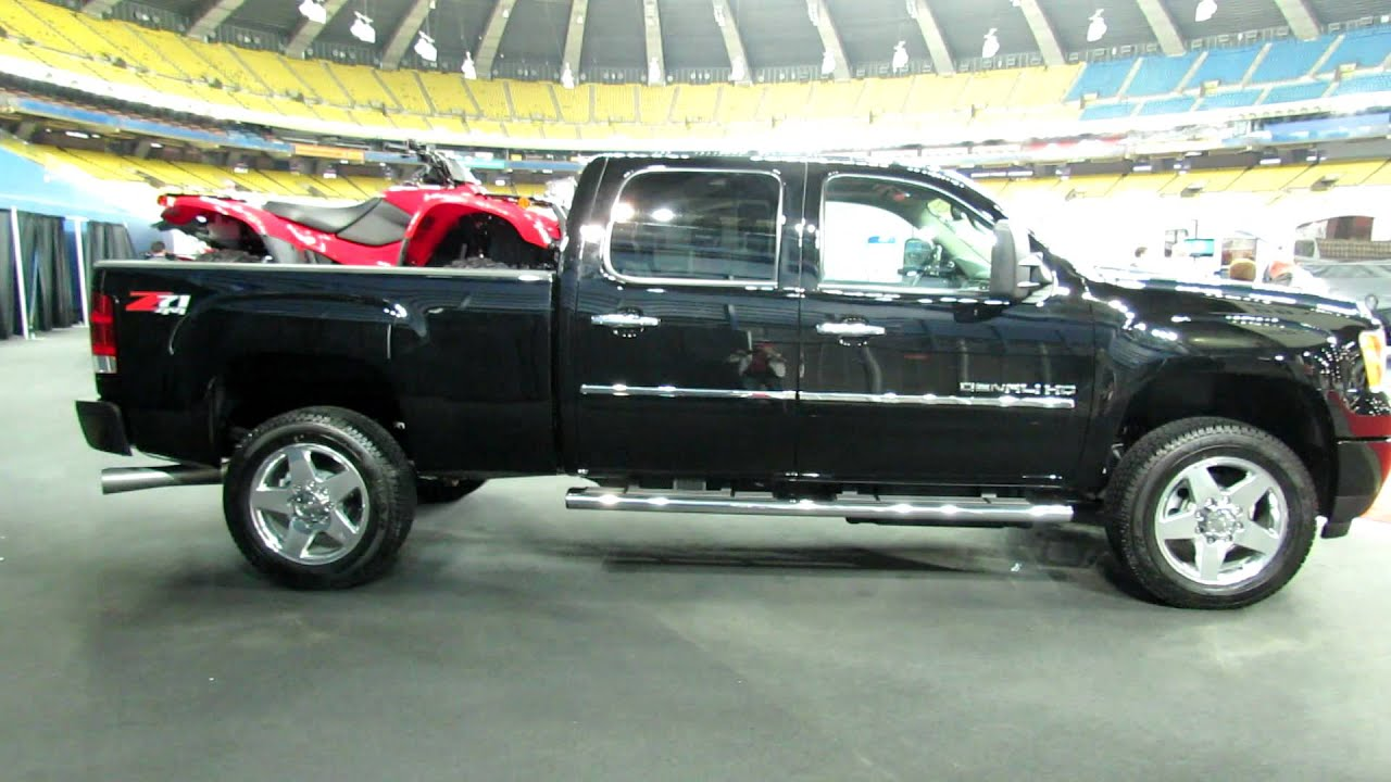 2012 gmc sierra 2500hd denali exterior and interior at 2012 montreal recreational vehicles show. Black Bedroom Furniture Sets. Home Design Ideas