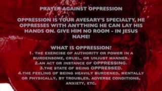 Prayer Against Demonic Oppression, Oppressive spirits - shake the wicked off