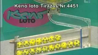 Keno loto 2010-02-09 Tiražas Nr. 4451