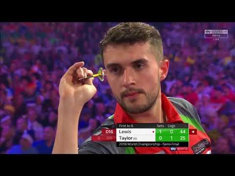 J.Lewis vs Taylor. World Darts Championship. Semi Final. Set 2
