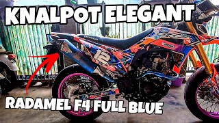 KNALPOT RADAMEL F4 FULL BLUE di CRF 150 L