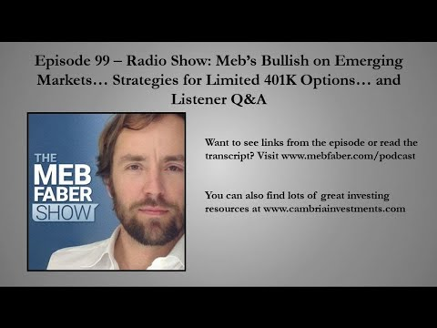 #99 - Radio Show: Meb's Bullish On Emerging Markets... Strategies for Limited 401K Options... And Li