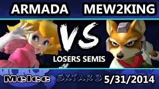 Video SKTAR 3 - Armada (Peach) Vs. Mew2King (Sheik, Fox) - Losers Semis download MP3, 3GP, MP4, WEBM, AVI, FLV September 2017