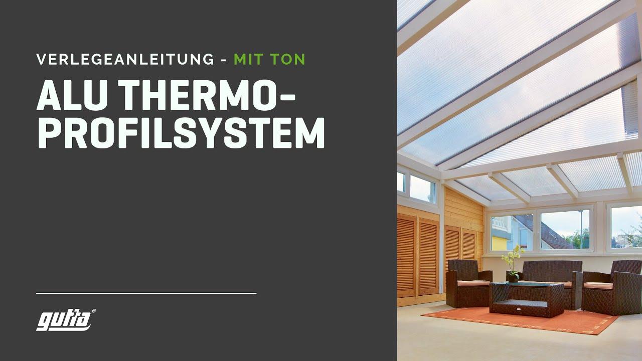 guttagliss thermoprofilsystem verlegung mit ton youtube. Black Bedroom Furniture Sets. Home Design Ideas
