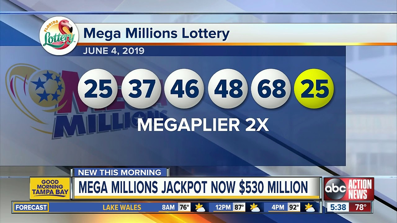 Mega Millions numbers drawn for $530 million jackpot