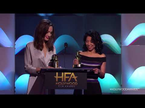 Angelina Jolie and Loung Ung Honored for the Hollywood Foreign Language Award - HFA 2017