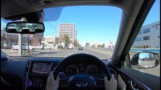 【Test Drive】2018-2019 NISSAN SKYLINE (INFINITI Q50) 3.5L V6 HYBRID 4WD - POV City Drive
