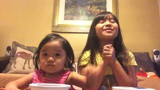 Food eating challenge with my little sissy...