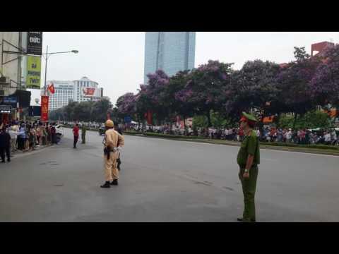 President Obama motorcade in Hanoi, Vietnam!