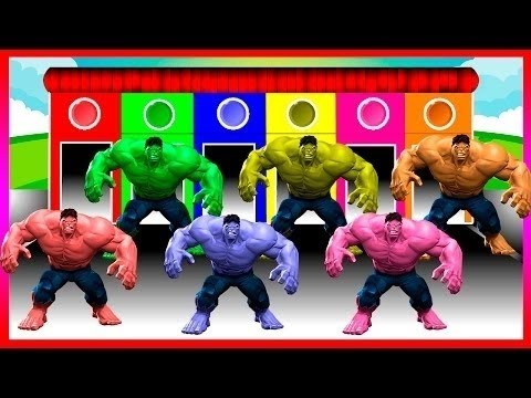 Hulk Colors for Children to learn with Color - Colours for Kids to Learn - Learning Colors