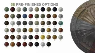 """Ekena Millwork CM12TR 12""""OD x 1""""P Traditional Ceiling Medallion (Fits Canopies up to 2 3/4"""")"""
