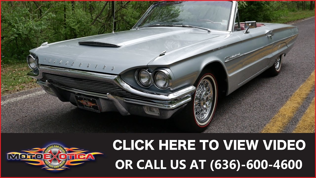 1964 Ford Thunderbird Convertible Sold Youtube