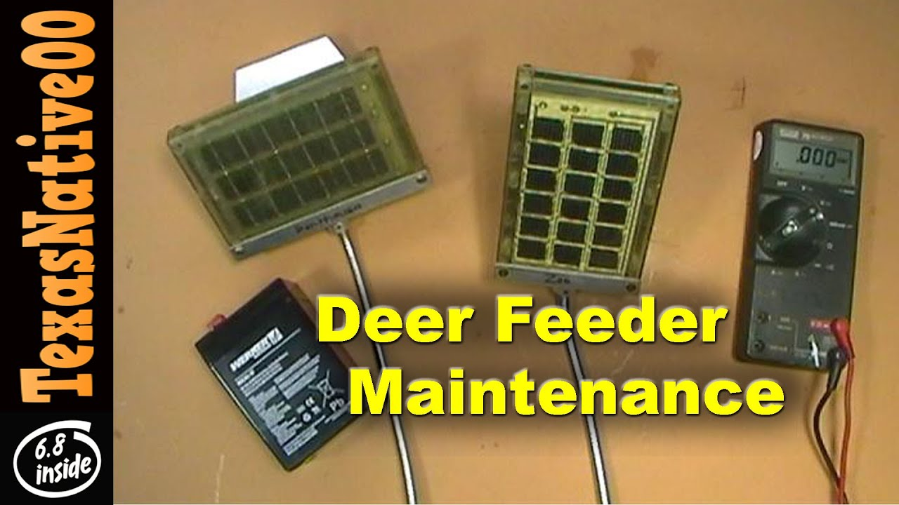 deer feeder maintenance trouble shooting batteries solar panels rh youtube com 55 Gallon Drum Deer Feeders Texas Deer Feeders
