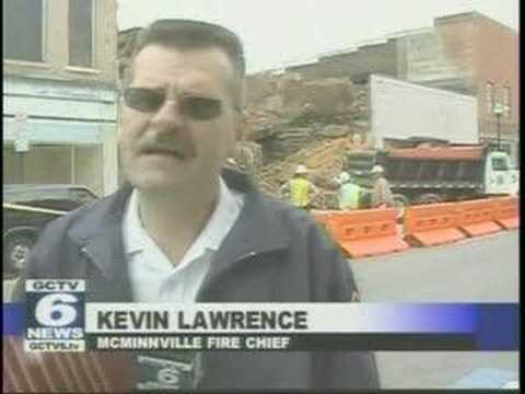 McMinnville TN downtown buildings destroyed by fire