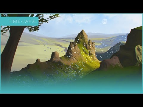 Mountain Landscape – Timelapse Digital Painting
