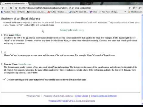 E Mail Marketing Urdu Tutorial Part 2 Youtube