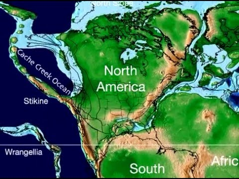 Plate Tectonic Evolution of North America - Scotese Animation