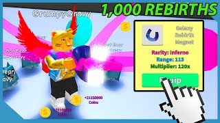 WHAT HAPPPENS WHEN YOU HIT 1,000 REBIRTHS IN ROBLOX MAGNET SIMULATOR (OP Magnet)