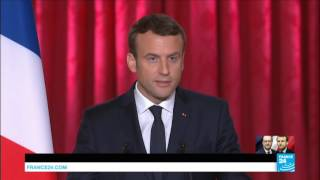 French President Emmanuel Macron   I wish to thank the French people