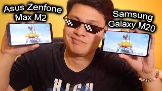Samsung Galaxy m20 vs Zenfone Max M2 speed and pubg test