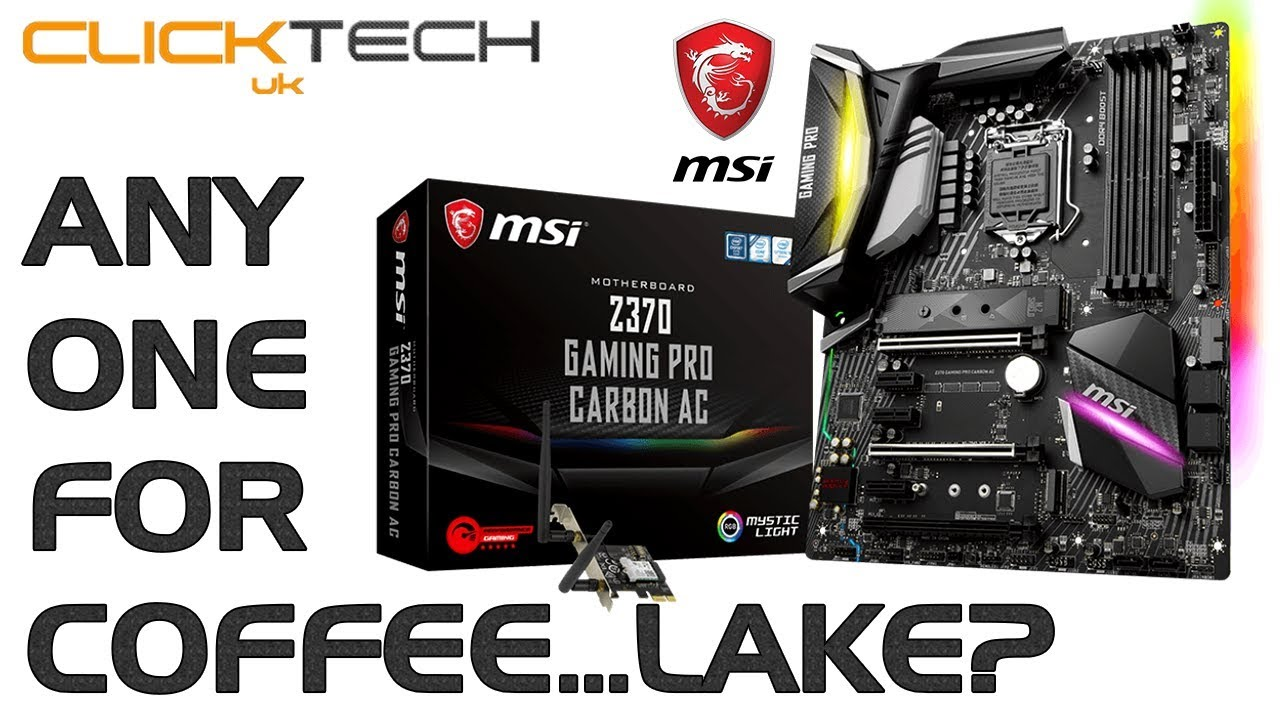 MSi Z370 Gaming Pro Carbon AC - Intel Coffee Lake Motherboard Unboxing  /Hardware Review / Overview
