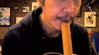 How to make a Sound on the Shakuhachi Bamboo Flute.