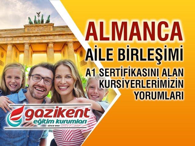 Attila Bey Almanca A1 Sertifikasına Kavuştu  / Gaziantep Almanca Aile Birleşimi Kursu