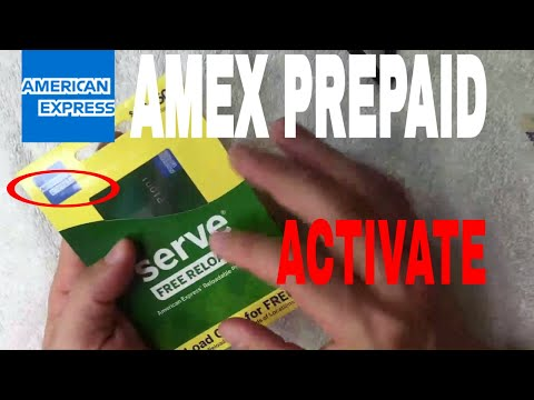 ✅  How To Activate AMEX Serve Free Reloads Prepaid Card 🔴