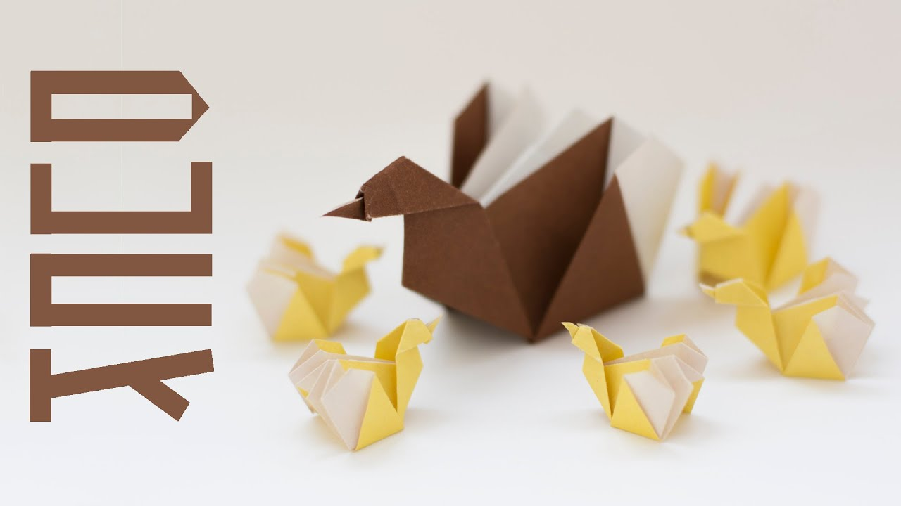 Five Little Ducks and Mother Duck from paper. Origami for ... - photo#31