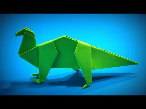 Origami Dinosaur | How to Make a Paper Dinosaur Iguanodon DIY | Easy Origami ART | Paper Crafts