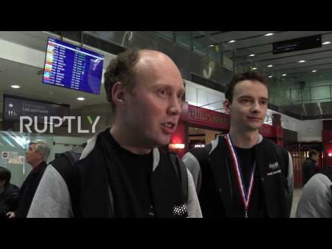 Russia: Loud cheers as St. Petersburg ITMO programming champs return home
