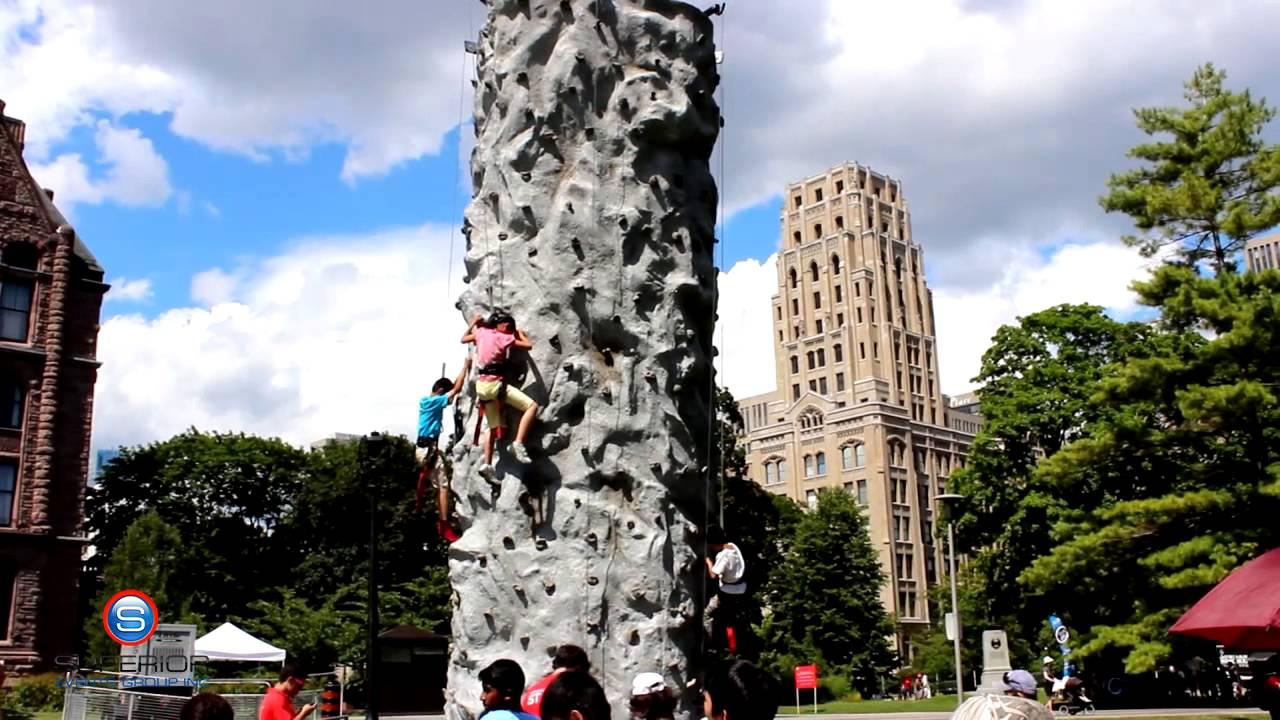 Portable Rock Climbing Wall YouTube