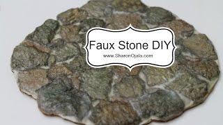 Dollhouse Stone Floor Easy and Cheap