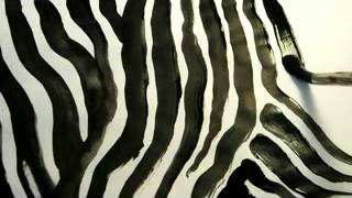 Amazing Zebra Pattern - How to draw Black and White Zebra Print
