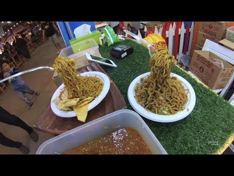 Jakarta Street Food 1671 Part.1 Flying Noodles Mie Terbang Pekan Raya Jakarta PRJ 2017