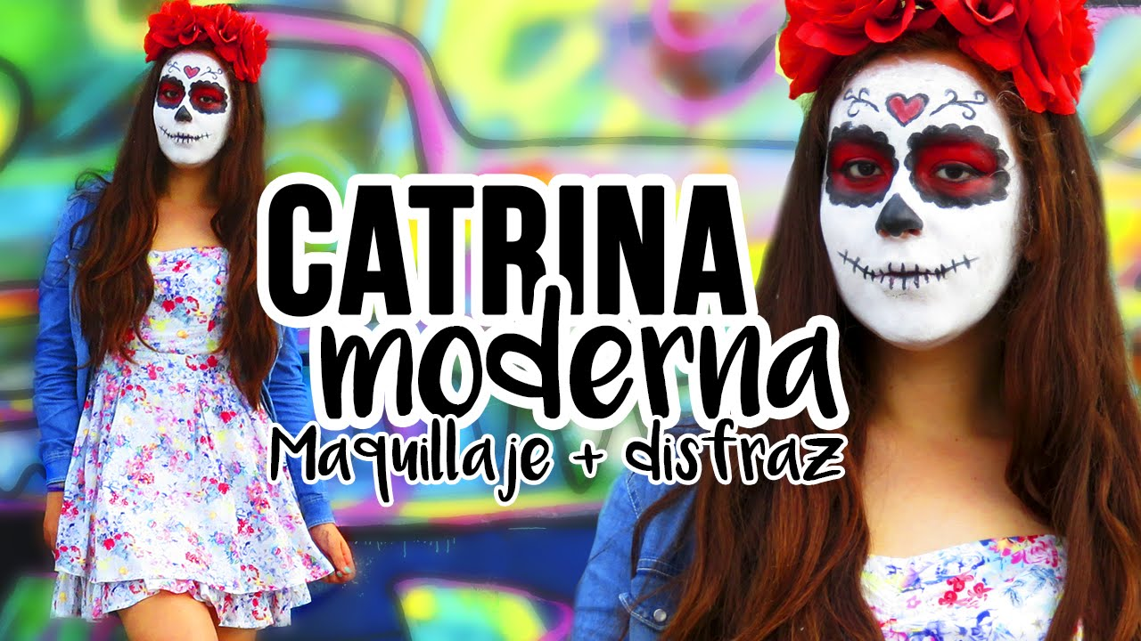Catrina Moderna Maquillaje Disfraz Halloween 2015