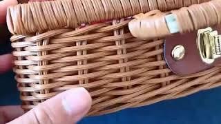 유아 라탄가방 어린이 피크닉백 합성소재 소풍 핸드백