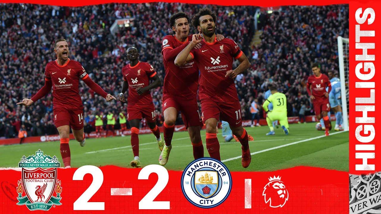 Download Highlights: Liverpool 2-2 Man City   Salah's sensational strike in thrilling draw