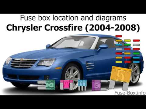 fuse box location and diagrams: chrysler crossfire (2004-2008) - youtube  youtube