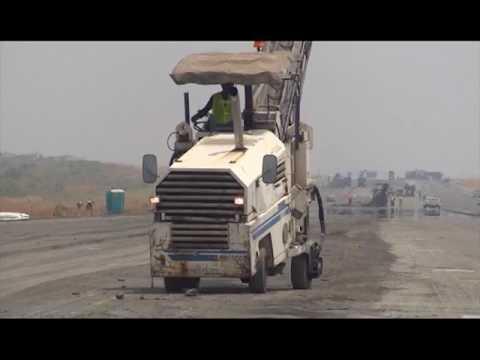 Repairs Work At Abuja Airport Runway