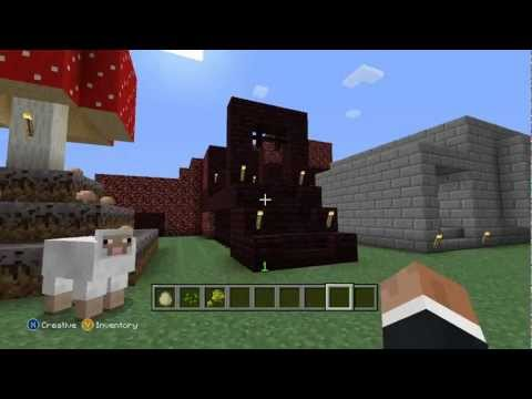 Minecraft Xbox 360 Edition 1.0.1 Update New Features Overview (Creative World Setup)