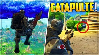 CATAPULT VERY HIGH ON FORTNITE! GLITCH FORTNITE Battle Royale