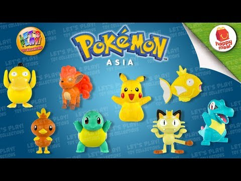 2018 Pokemon Asia McDonald's Happy Meal Complete Set Of 8 Toys
