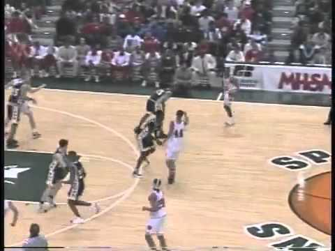 Shane Battier of Detroit Country Day putback in 1997 MHSAA Final