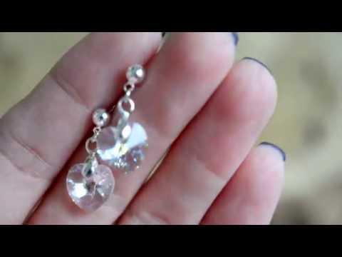 Небольшие серьги с кристаллами Сваровски