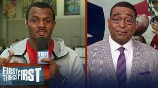 Deshaun Watson talks facing Tom Brady and offers advice to Jared Goff   NFL   FIRST THINGS FIRST