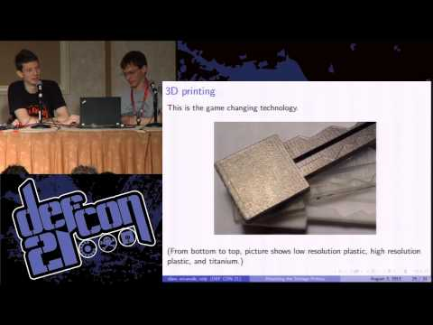 Defcon 21 - Key Decoding and Duplication Attacks for the Schlage Primus High-Security Lock